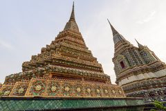 Μεγάλη παγόδα σε Wat Phra Chettuphon Wimon Mangkhalaram Ratchaworamahawihan Wat Pho Στοκ Εικόνα