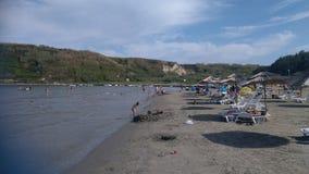 Μεγάλη παραλία άμμου στοκ φωτογραφίες με δικαίωμα ελεύθερης χρήσης