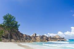 Μεγάλη παραλία Anse, Σεϋχέλλες Στοκ εικόνα με δικαίωμα ελεύθερης χρήσης