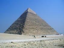 μεγάλη πυραμίδα της Αιγύπτ& στοκ φωτογραφία