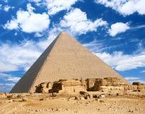 μεγάλη πυραμίδα της Αιγύπτ& Στοκ Εικόνες