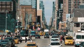 Μεγάλη πόλη Κυκλοφορία αυτοκινήτων Νέα Υόρκη απόθεμα βίντεο
