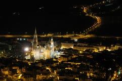 μεγάλη πόλη νύχτας καναριν&iota Στοκ Φωτογραφία