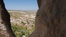 Μεγάλη πόλη πετρών uchhisar στην Τουρκία φιλμ μικρού μήκους
