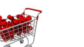 Μεγάλη πώληση διακοπών σε μια έκπτωση Ζωντανεψοντα κάρρα αγορών με το κόκκινο ποσοστό που πέφτει άνωθεν διανυσματική απεικόνιση