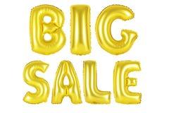 Μεγάλη πώληση, χρυσό χρώμα Στοκ εικόνα με δικαίωμα ελεύθερης χρήσης