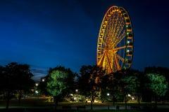 Μεγάλη ρόδα πορθμείων στο Μόντρεαλ τη νύχτα στοκ φωτογραφίες