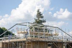 Μεγάλη στέγη που κατασκευάζεται Στοκ Φωτογραφίες