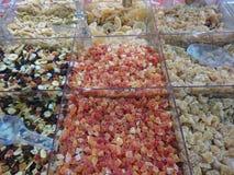 Μεγάλη συλλογή των ξηρών και γλασαρισμένων φρούτων Στοκ εικόνα με δικαίωμα ελεύθερης χρήσης