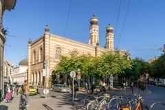 Μεγάλη συναγωγή οδών Dohany, Βουδαπέστη Στοκ Φωτογραφίες