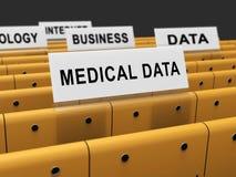 Μεγάλη τρισδιάστατη απόδοση βάσεων δεδομένων υγείας στοιχείων ιατρική ελεύθερη απεικόνιση δικαιώματος
