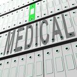 Μεγάλη τρισδιάστατη απόδοση βάσεων δεδομένων υγείας στοιχείων ιατρική διανυσματική απεικόνιση