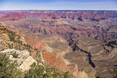 Μεγάλη φαραγγιών εθνική πάρκων άποψη τοπίων της Αριζόνα πανοραμική στοκ φωτογραφία