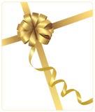μεγάλη χρυσή κορδέλλα δώρ διανυσματική απεικόνιση