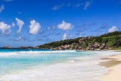 Μεγάλη Anse των Σεϋχελλών παραλία παραλιών Λα Digue Στοκ φωτογραφίες με δικαίωμα ελεύθερης χρήσης