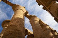 Μεγάλη Hypostyle αίθουσα στους ναούς Karnak Στοκ Φωτογραφίες
