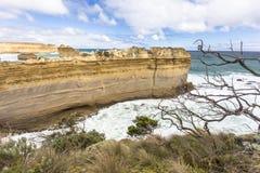 Μεγάλοι ωκεάνιοι ο απότομος βράχος δρόμων της Αυστραλίας φαραγγιών Ard Razorback και λιμνών και θάλασσας περιχώρων ωκεανοί και Στοκ Φωτογραφία