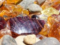 Μεγάλοι Burgundy γυαλί και βράχοι Στοκ φωτογραφία με δικαίωμα ελεύθερης χρήσης