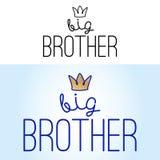Μεγάλος Αδερφός - χειροποίητη καλλιγραφία διανυσματική απεικόνιση