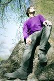 μεγάλος αρσενικός πρότυπος στηργμένος κορμός δέντρων Στοκ φωτογραφία με δικαίωμα ελεύθερης χρήσης