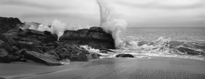 μεγάλος βράχος malibu Στοκ Εικόνες
