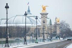 μεγάλος ΙΙΙ χειμώνας palais Alexandre pont Στοκ φωτογραφίες με δικαίωμα ελεύθερης χρήσης