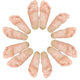 μεγάλος μικρός ποδιών κύκ&lam Στοκ Εικόνες
