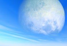 μεγάλος ουρανός φεγγαριών ημέρας Στοκ Εικόνες