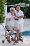Μεγάλος-παππούς πάνω από 100 χρονών στοκ φωτογραφία