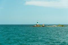Μεγάλος σωλήνας σε ένα νησί στη λίμνη του Μίτσιγκαν Στοκ Εικόνες