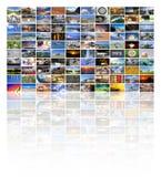 Μεγάλος τοίχος βίντεο και εικόνας πολυμέσων Στοκ εικόνες με δικαίωμα ελεύθερης χρήσης