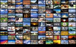 Μεγάλος τοίχος βίντεο και εικόνας πολυμέσων Στοκ εικόνα με δικαίωμα ελεύθερης χρήσης