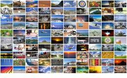 Μεγάλος τοίχος βίντεο και εικόνας πολυμέσων Στοκ φωτογραφία με δικαίωμα ελεύθερης χρήσης