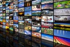 Μεγάλος τοίχος βίντεο και εικόνας πολυμέσων Στοκ Φωτογραφίες