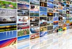 Μεγάλος τοίχος βίντεο και εικόνας πολυμέσων Στοκ φωτογραφίες με δικαίωμα ελεύθερης χρήσης