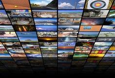Μεγάλος τοίχος βίντεο και εικόνας πολυμέσων Στοκ Εικόνα