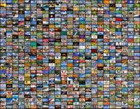 Μεγάλος τοίχος βίντεο και εικόνας πολυμέσων Στοκ Εικόνες