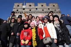 μεγάλος τοίχος επισκε&pi Στοκ Εικόνες