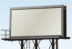 μεγάλος υπαίθριος πινάκων διαφημίσεων διανυσματική απεικόνιση