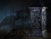 μεγάλος φωτεινός Ιστός αραχνών σκιών μυστηρίου σεληνόφωτου φωτοστεφάνου ευελιξιών φλογών ρίψης καλλιεργητικός εκτεταμένος παράξεν Στοκ εικόνες με δικαίωμα ελεύθερης χρήσης