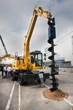 μεγάλος digger diesel dril επιχωματώνε&io Στοκ Εικόνα