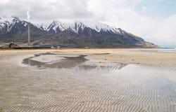 μεγάλο άλας λιμνών στοκ εικόνα