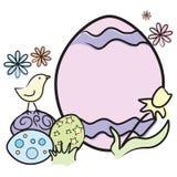 μεγάλο αυγό Πάσχας νεοσ&sig Στοκ φωτογραφίες με δικαίωμα ελεύθερης χρήσης