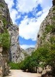 Μεγάλο εθνικό πάρκο φαραγγιών Paklenica, Κροατία Στοκ εικόνα με δικαίωμα ελεύθερης χρήσης