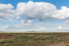 Μεγάλο επιπλέον σώμα σύννεφων πέρα από τον ουρανό πέρα από τα λιβάδια Tyva στέπα καλοκαίρι ημέρας ηλιόλουστο Στοκ φωτογραφία με δικαίωμα ελεύθερης χρήσης