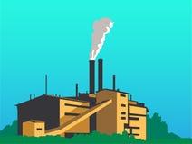 μεγάλο εργοστάσιο ελεύθερη απεικόνιση δικαιώματος