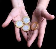 μεγάλο ευρώ νομισμάτων στοκ εικόνες με δικαίωμα ελεύθερης χρήσης