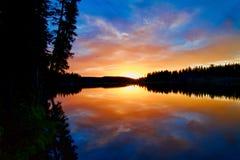 Μεγάλο ηλιοβασίλεμα Mesa Στοκ εικόνες με δικαίωμα ελεύθερης χρήσης