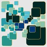Μεγάλο και μικρό στρογγυλευμένο αφηρημένο υπόβαθρο ορθογωνίων απεικόνιση αποθεμάτων