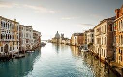 Μεγάλο κανάλι στη Βενετία, Ιταλία στοκ φωτογραφίες